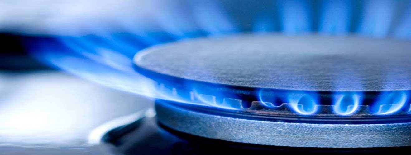 bright blue gas ring heating and plumbers install gas cookers